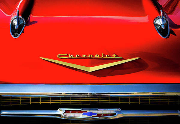 Wall Art - Digital Art - Orange '57 Chevy by Douglas Pittman