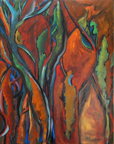 Painting - Orange Abstract by Katt Yanda