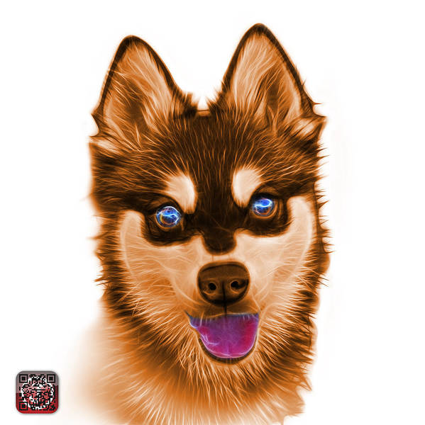 Painting - Orange Alaskan Klee Kai - 6029 -wb by James Ahn