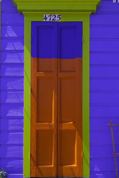 Nola Photograph - Orange And Blue Door by Garry Gay