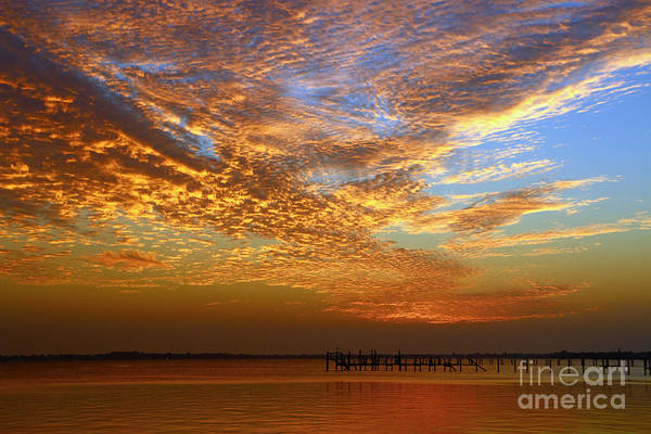 Photograph - Orange And Blue Downtown Sunrise by Tom Claud