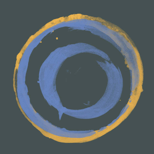 Sumi Wall Art - Painting - Orange And Blue1 by Julie Niemela