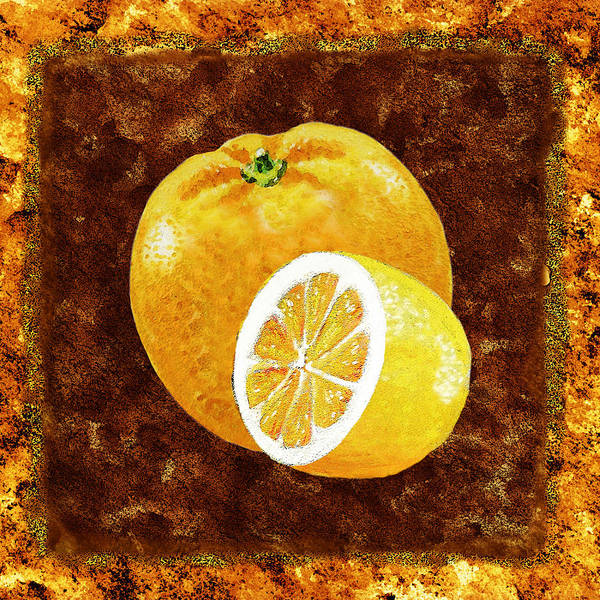 Wall Art - Painting - Orange And Lemon By Irina Sztukowski by Irina Sztukowski