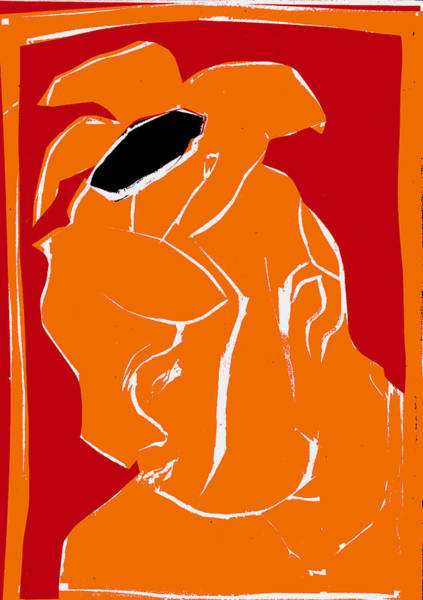 Digital Art - Orange And Red Series - Flower Hat by Artist Dot