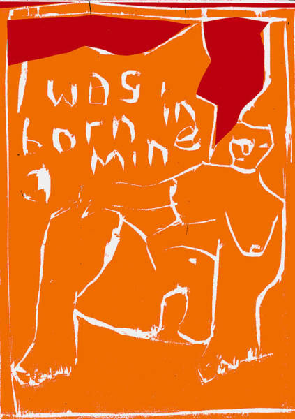 Digital Art - Orange And Red Series - I Was Born In A Mine by Artist Dot