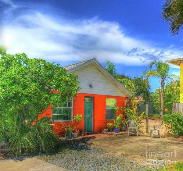Wall Art - Photograph - Orange Beach House by Debbi Granruth