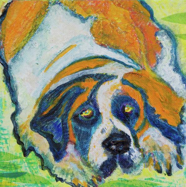 Orange Bernard Art Print