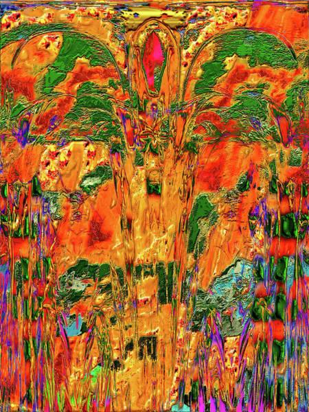 Digital Art - Orange Blossom Abstract by Carlos Diaz