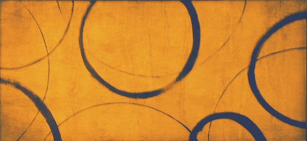 Wall Art - Painting - Orange Blue Ensos by Julie Niemela
