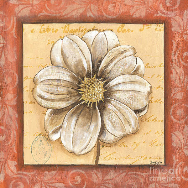 Wall Art - Painting - Orange Bohemian Dahlia 1 by Debbie DeWitt