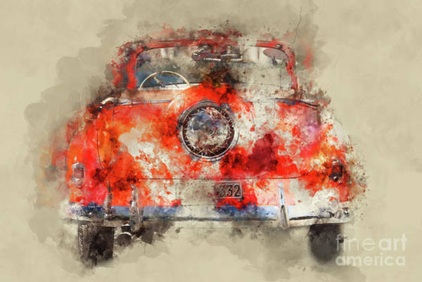 Collector Car Painting - Orange Chevrolet by Delphimages Photo Creations