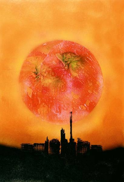 Wall Art - Painting - Orange City by Nandor Molnar