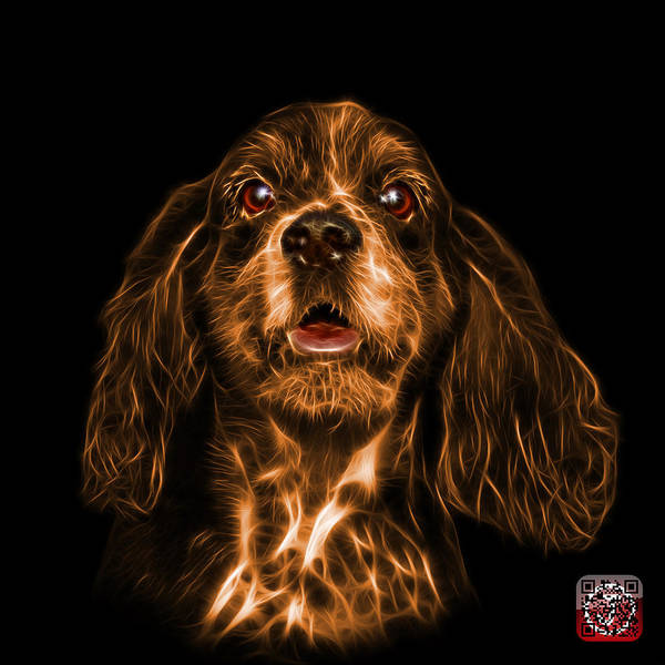Mixed Media - Orange Cocker Spaniel Pop Art - 8249 - Bb by James Ahn