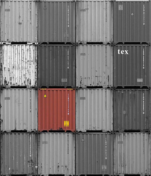 Photograph - Orange Container by Richard Reeve