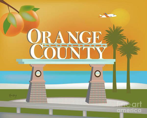 Orange County Digital Art - Orange County, California Horizontal Scene by Karen Young