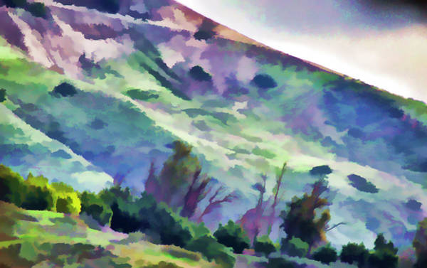 Orange County Digital Art - Orange County Hillside Painted Effects I by Linda Brody