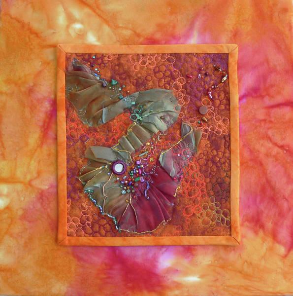 Tapestry - Textile - Orange Delight by Pat Dolan