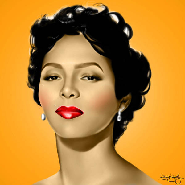 Dorothy Dandridge Digital Art - Orange Dorothy by Davonte Bailey