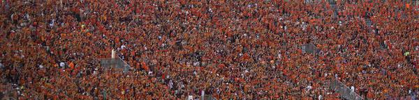 Ohio State Football Photograph - Orange Effect Celebration Game One 2015 by Betsy Knapp