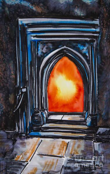 Wall Art - Photograph - Orange Fire In A Fireplace by Tara Thelen