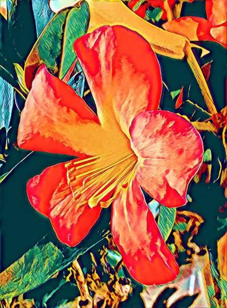 Photograph - Orange Flower Aloha  by Joalene Young