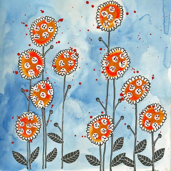 Orange Flowers Art Print