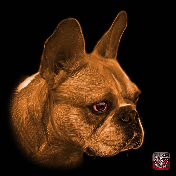 Painting - Orange French Bulldog Pop Art - 0755 Bb by James Ahn