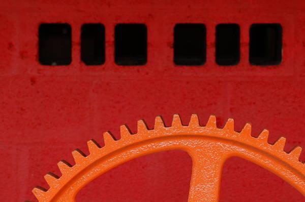 Photograph - Orange Gear 1 by Michael Raiman