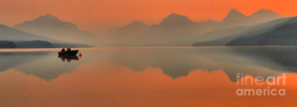 Wall Art - Photograph - Orange Glow Over Lake Mcdonald by Adam Jewell