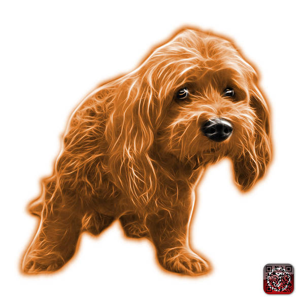 Painting - Orange Lhasa Apso Pop Art - 5331 - Wb by James Ahn