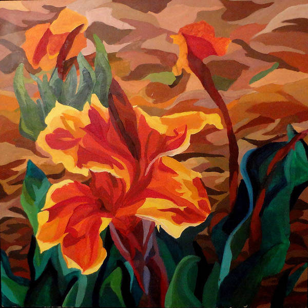 Magnificence Painting - Orange Magnificence by Kimberly Riggs