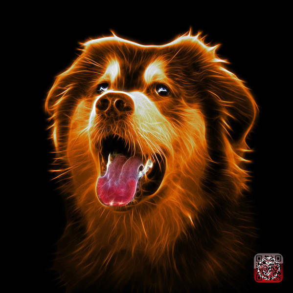 Painting - Orange Malamute Dog Art - 6536 - Bb by James Ahn