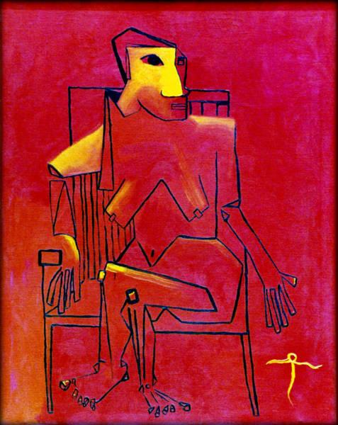 Painting - Orange Mom by James Lanigan Thompson MFA
