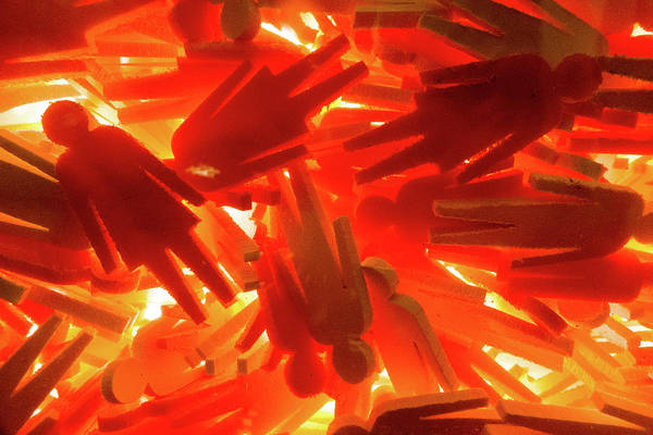 Photograph - Orange Plastic People by SR Green