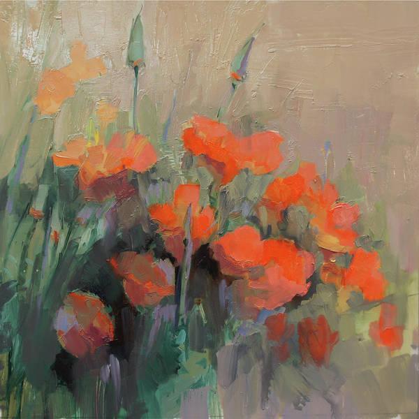 Orange Poppies Art Print by Cathy Locke