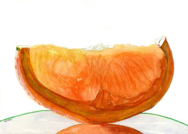 Drawing - Orange Reflection by Rich Stedman