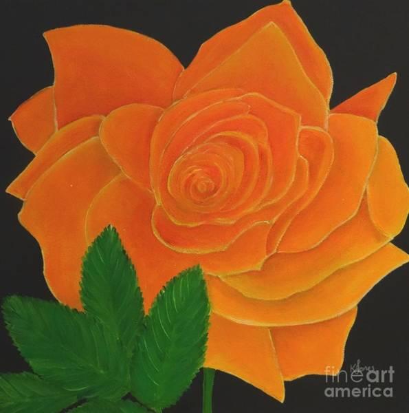 Painting - Orange Rose by Karen Jane Jones
