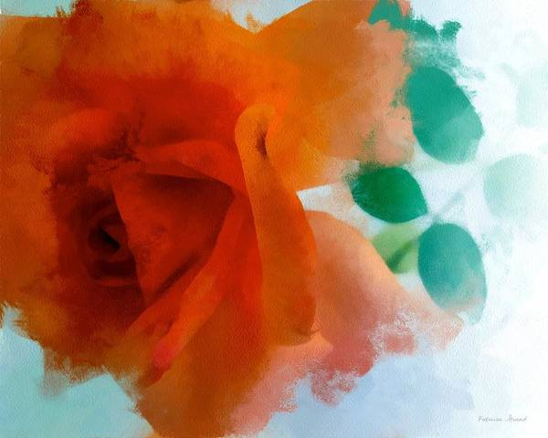 Fleur Digital Art - Orange Rose by Patricia Strand