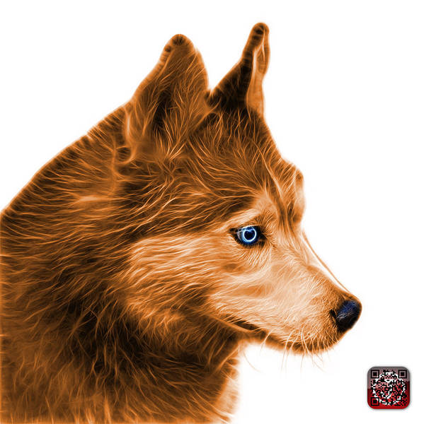 Painting - Orange Siberian Husky Art - 6048 - Wb by James Ahn