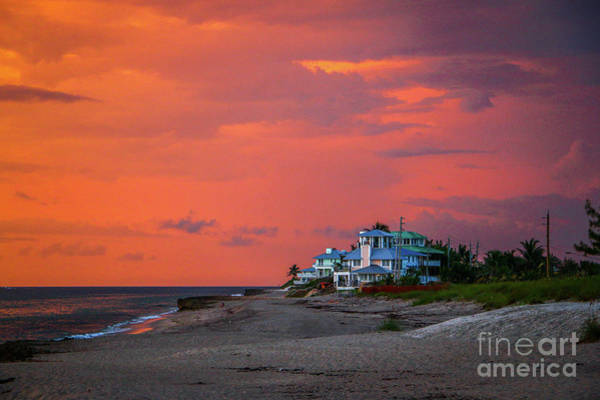 Photograph - Orange Sky Beach House by Tom Claud