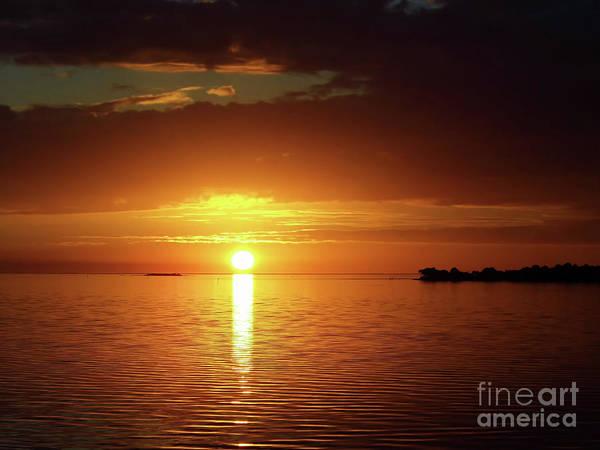 Cedar Key Photograph - Orange Sky  by D Hackett