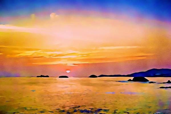 Photograph - Orange Sky In Ixtapa, Mexico by Tatiana Travelways