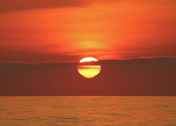 Photograph - Orange Sky Yellow Sun by Robert Banach