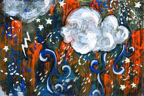Transfer Mixed Media - Orange Storm by Jennifer Kelly