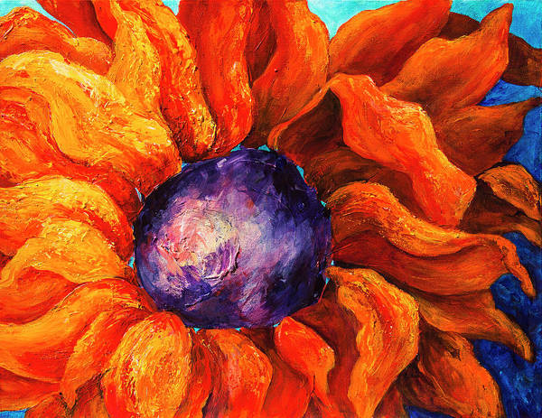 Painting - Orange Sunflower by Sally Quillin