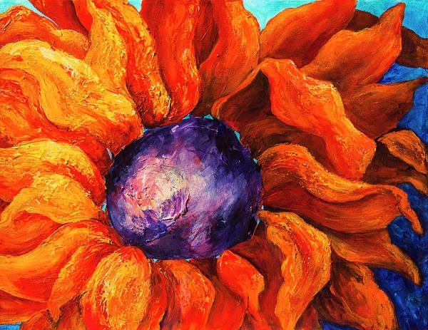 Orange Sunflower Art Print