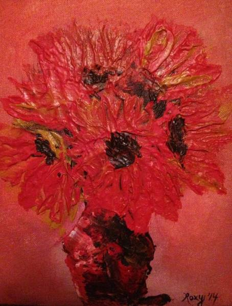 Flower Painting - Orange Sunflowers by Roxy Rich
