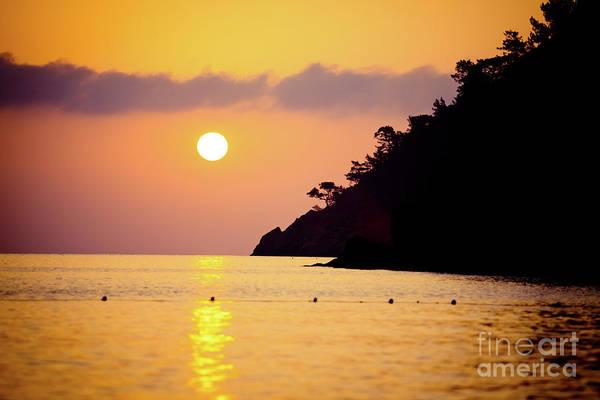 Photograph - Orange Sunrise Above Sea by Raimond Klavins