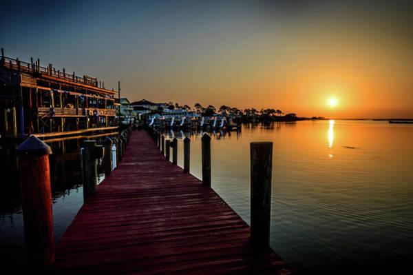 Photograph - Orange Sunrise At Tacky Jacks In Orange Beach Alabama by Michael Thomas