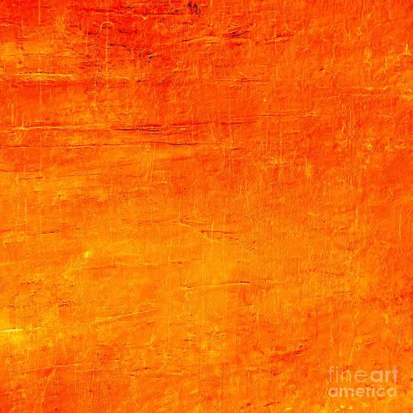 Painting - Orange Sunset Acrylic Textured Abstract  by Sheila Wenzel